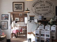 World renowned seafood restaurant in Whitstable. Find out about our heritage, view sample menus and book a table online Oyster Restaurant, Seaside Restaurant, Restaurant Themes, Restaurant Bar, Restaurant Interiors, Seaside Cafe, Beach Cafe, Courtyard Restaurant, Restaurants