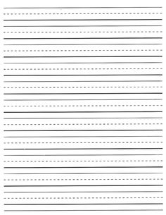 lined paper for kindergarten
