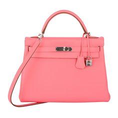 1stdibs.com | HERMES KELLY BAG 32cm ROSE LIPSTICK PINK TOGO W PALLADIUM