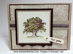 What a Lovely Tree!  Stampin' Up, Lovely as a Tree, Just Believe, cards