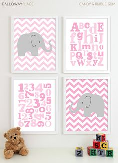 Items similar to Baby Girl Nursery Art Chevron Elephant Nursery Prints, Kids Wall Art Baby Girls Room Baby Nursery Decor Playroom Rules Quote Art on Etsy Baby Elephant Nursery, Baby Nursery Decor, Nursery Themes, Nursery Art, Girl Nursery, Girl Room, Nursery Quotes, Nursery Prints, Room Baby