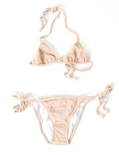 Lover Tie-Side Triangle Bikini- Nude Lace. love the colour, i would add bronze instead of gold