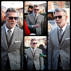 Nick Wooster in houndstooth at Pitti Uomo