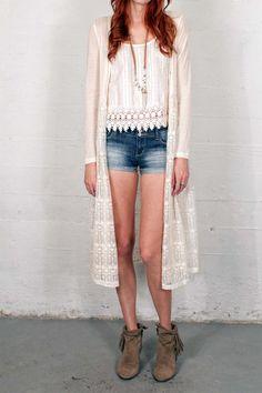 Frieda Lace Cardigan — Gypsan - Bohemian and Boho Chic Clothing for Women