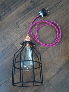 Black Round Cage Pendant Light - Hanging Edison Bare Bulb Pendant Lamp - Industrial Chandelier - Hardwired Fixture OR plug in SWAG Bar Light Fixtures, Hanging Light Fixtures, Hanging Pendants, Hanging Lights, Bar Pendant Lights, Cage Pendant Light, Pendant Lamp, Pendant Lighting, Basement Lighting