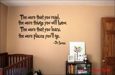 The Places You'll Go - Dr.Seuss Wall Decal - perfect for a child's room.