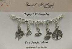 Mom 65th Birthday Lucky Charm Bracelet