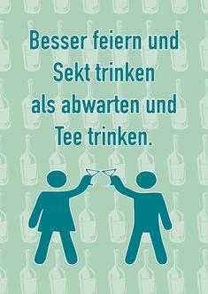 Sekt statt Tee | Humor | Echte Postkarten online versenden | MyPostcard.com