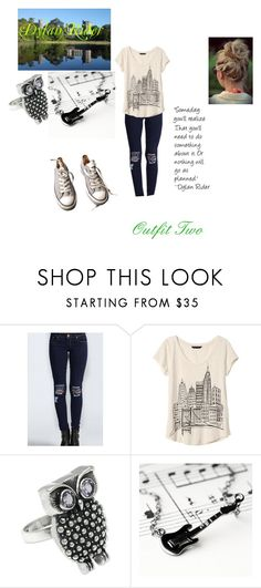 """""""Dylan Rider, Fleeting Images. Outfit Two"""" by ktsongwriterrose on Polyvore featuring Banana Republic, NOVICA, Kalk Bay and Converse"""