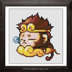 0175Monkeyboy  PDF Cross Stitch pattern  Buy 1 by PDFcrossstitch, $6.00