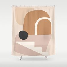 abstract minimal 24 Shower Curtain by thindesign Rental Bathroom, Bathroom Shower Curtains, Bathrooms, Home Wall Decor, Home Decoration, Mid Century Modern Art, Minimalism, Home Goods, Graphic Design