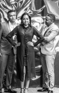With my bro and sis. Dressed in Darren's Wedding suits.