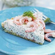 Kall räkpaj med färskost Chilled shrimp pie with creamcheese I Love Food, Good Food, Yummy Food, Low Carb Recipes, Snack Recipes, Scandinavian Food, Savoury Baking, Swedish Recipes, Food For Thought