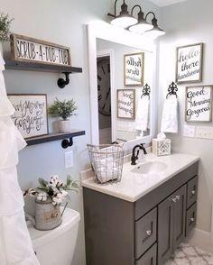 Gorgeous 110 Spectacular Farmhouse Bathroom Decor Ideas https://roomadness.com/2017/12/15/110-spectacular-farmhouse-bathroom-decor-ideas/