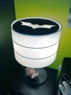 what better what to spend your saturday.than turning your lamps into Batman beacons! you could do this with Rutbo! Batman Lamp, Im Batman, Batman Stuff, My Little Monster, Little Man, Batman Bathroom, Batman Signal, Comic Room, Hero Crafts