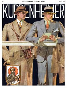 Kuppenheimer Clothing Ad, Saturday Evening Post, Apr. 12, 1930, by J.C. Leyendecker