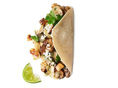Poblano, Mushroom and Potato Tacos #MeatlessMonday #Tacos @Food Network
