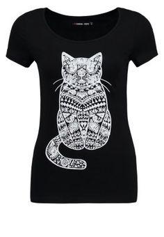Even&Odd T-Shirt print - black - Zalando.de