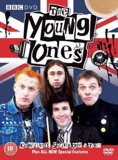 The Young Ones British comedy stars Nigel Planer, Rik Mayall and… British Sitcoms, British Comedy, English Comedy, British Humour, Radios, Rik Mayall, Nostalgia, Bbc Tv, Monty Python