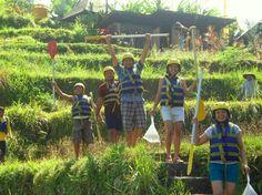 Dea Villas' staff on a rafting day trip  #deavillasfamily
