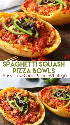 Perfect easy dinner or meal prep! Spaghetti Squash Pizza bowls are Low Carb, sug… Perfect easy dinner or meal prep! Spaghetti Squash Pizza bowls are Low Carb, sug… – Paleo Dinner, Healthy Dinner Recipes, Paleo Recipes, Real Food Recipes, Chicken Recipes, Paleo Food, Yummy Food, Sausage Recipes, Healthy Dinners