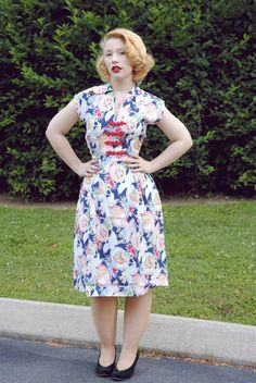 Day Dress in Pearl Harbor print #trashydivadaydress #trashydivapearlharbor