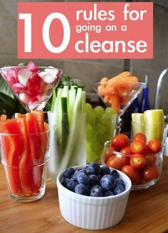 10 rules for going on a cleanse