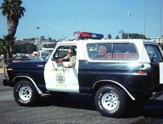 Click this image to show the full-size version. Old Police Cars, Police Truck, Bronco Truck, Ford Bronco, Old Pickup Trucks, Old Ford Trucks, Cool Trucks, Big Trucks, Emergency Vehicles