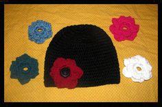 Interchangeable Flower Beanie All sizes by NStitchesCrochet, $16.00