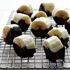 Too hot to cook? Make these Frozen Chocolate-Dipped Banana Bites...so easy and energizing! | health.com