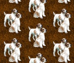 Jack Russell Terrier Fabric fabric by dogdaze_ on Spoonflower - custom fabric