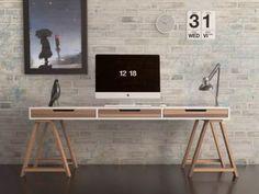 escritorio diseño moderno con caballetes