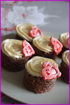 Brownies con ganaché de chocolate blanco