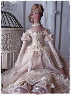 Tilda doll Handmade doll Tilda doll princess Fabric Primitive doll Textile doll Home decor This handmade doll is my interpretation of a Tilda doll pattern. The doll is wearing a powder rose dress made from cotton, tulle, lace and decorated with pearls, ribbon...Below beautiful