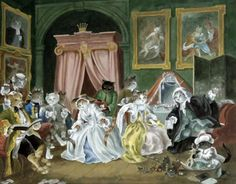 """The fashionable Marriage: the Toilet (William Hogarth)"" par Susan Herbert"