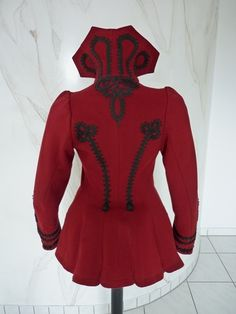 Extravagant Antique Red Jacket, Victorian Jacket, ca. 1898 from antique-gown on Ruby Lane