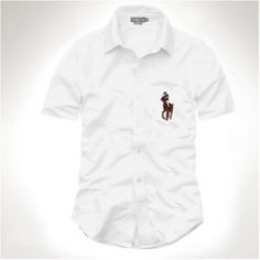 Ralph Lauren Men\u0026#39;s White Big Pony Short Sleeved Shirts http://www.ralph