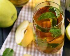 Thé à la pomme et à la menthe à calories négatives