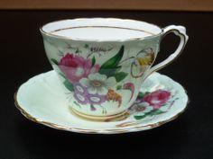 vintage Paragon fine bone china, cup & saucer, England 1952 - 1956