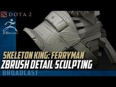 "▶ ""Ferryman Set"" zBrush Sculpting - Shoulder Armor - YouTube"