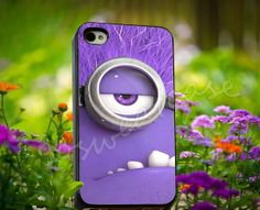 Despicable me Evil Minion - for iPhone 4/4s, iPhone 5/5s/5C, Samsung S3 i9300, Samsung S4 i9500 Hard Plastic Case on Etsy, $14.99