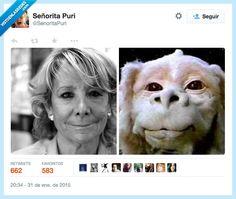 Parecidos razonables: Esperanza Aguirre. #humor #risa #graciosas #chistosas #divertidas
