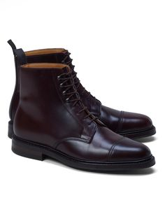 Shell Cordovan cap toe boots, Brooks Brothers.