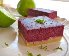 Blackberry Lime Bars | The Food Charlatan