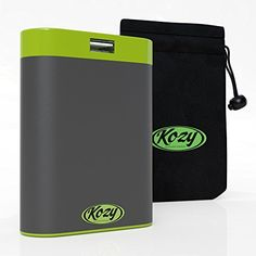 Kozy 7800mAh Rechargeable Hand Warmer provides Comfortable Soothing Warmth for Hours Includes Bonus Warmer Pouch USB ChargerPower Bank and LED Flashlight  Emergency SOS Full 1Year Warranty ** You can get additional details at the image link.Note:It is affiliate link to Amazon.