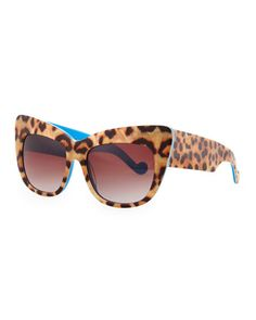 f780591719b7e Alice Goes to Cannes Leopard-Print Sunglasses by Anna-Karin Karlsson at  Bergdorf Goodman