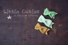 quick and easy felt bows