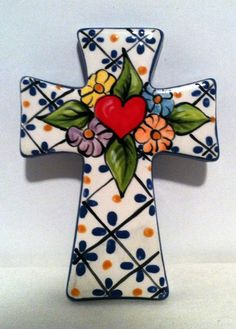 Traditional Tattoo Inspired Wall Cross by ShopBlueMonkey on Etsy, $15.00
