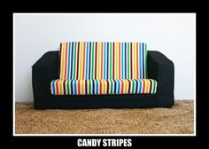 Chaise Lounge Sofa Candy stripes Kids Flip Out Sofa http denimbaby