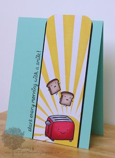 Lawn Fawn - Love 'n Breakfast _ We love Jenny's adorable card design _ Start with a smile | Flickr - Photo Sharing!